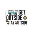 travel badge design outdoor adventure logo with vector image vector image