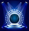 tv show scene with circle of lights - podium vector image vector image