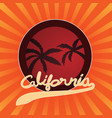 typography slogan with summer california for t vector image