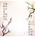 japan motive background vector image