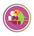 Orange green parro vector image