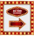 retro billboard and arrow vector image