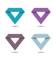 diamond sign set vector image