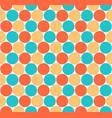 seamless pattern colored circular shapes vector image