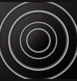 abstract background of black circles with shadow vector image