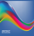 abstract background of waves vector image vector image
