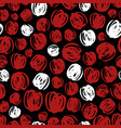 abstract seamless pattern design - red and white vector image