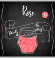 alcoholc cocktail rose party summer poster vector image vector image