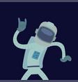 astronaut in space character having fun vector image vector image