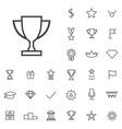 award outline thin flat digital icon set vector image