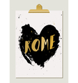 Black Heart Rome Poster vector image vector image