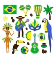 Brazil decorative set vector image