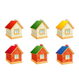 brick houses vector image