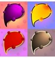Bright Colourful Speech Bubbles Set vector image