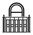 building balcony icon simple style vector image vector image