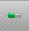 capsule pill painkiller vitamin drug icon vector image