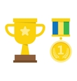 champion cup medal Flat design style vector image vector image