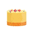 Cheesecake With Berries And Sprinkles Decorated vector image