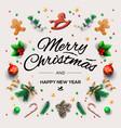 christmas postcard with calligraphic season vector image vector image