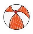 color crayon stripe beach ball toy fun vector image
