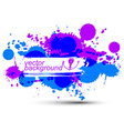 Colorful ink splash seamless pattern with overlap vector image vector image