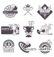 darts game tournament sketch icons vector image vector image