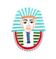 drawing historical mask pharaoh tutankhamen vector image