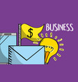 email mobile phone money idea business vector image vector image