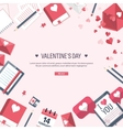 Flat background with tablet vector image vector image