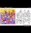 funny children characters coloring book vector image vector image