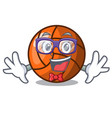 geek volleyball character cartoon style vector image vector image