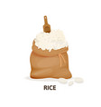 grain crops in bags bag rice agricultural crop vector image vector image
