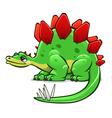 green cartoon dinosaur vector image