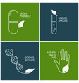 green pharmacy and herbal medicine icons vector image vector image