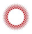 halftone circle frame dots vector image vector image