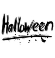 Halloween hand lettering Handmade calligraphy vector image vector image