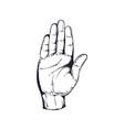 hand vintage logo vector image vector image