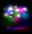 holiday golden fireworks vector image