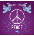 international peaceday poster vector image vector image