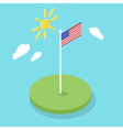 Isometric 3d icon of American flag vector image vector image