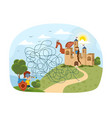 kids puzzle with complicated maze vector image