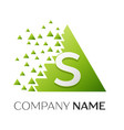 letter s logo symbol in colorful triangle vector image vector image