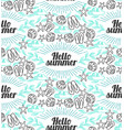 lettering hand drawing hello summer vector image