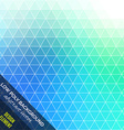 Low poly abstract background Blue and orange vector image vector image
