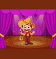 mexican man with sombrero and guitar on stage vector image