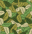 Military texture leaves Army camouflage of foliage vector image vector image