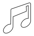 music note icon outline style vector image