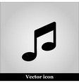 Music notes icon vector image vector image