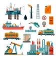 Oil Industry Cartoon Icons Set vector image vector image