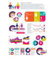people population infographics vector image vector image
